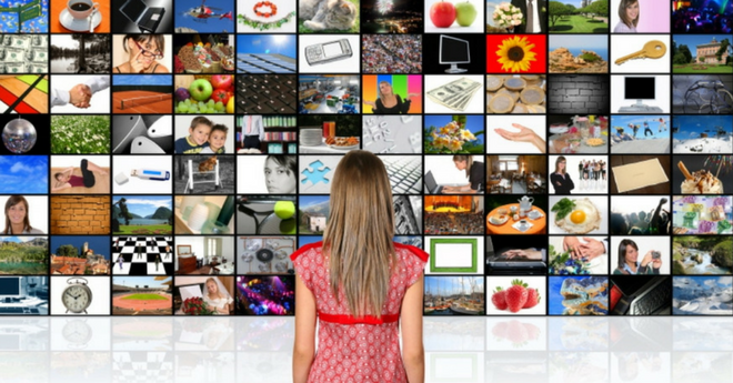 Girl and Tv Screens - 660 x 345